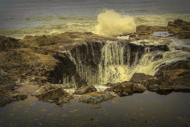 Thor's Well Painterly