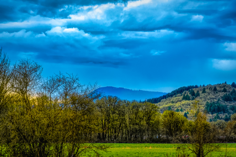 """Rainclouds Over Mary's Peak & Bald Hill"""