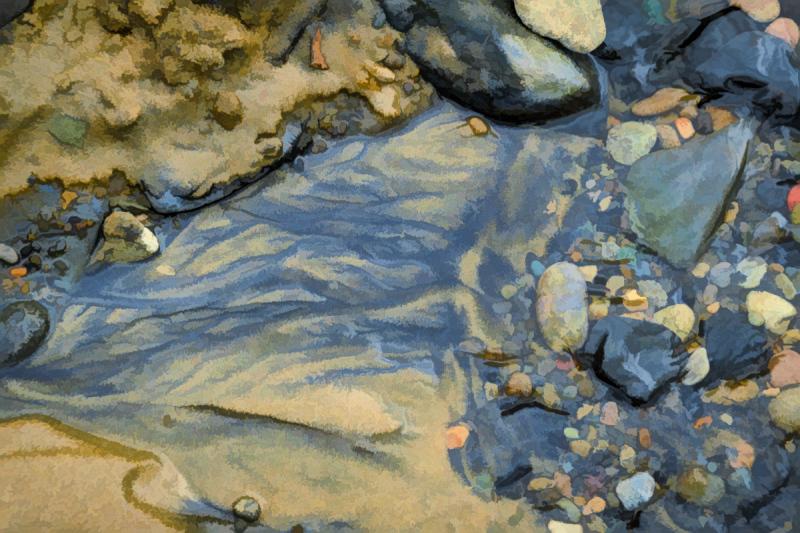 """Creek Art #2, Painterly"""