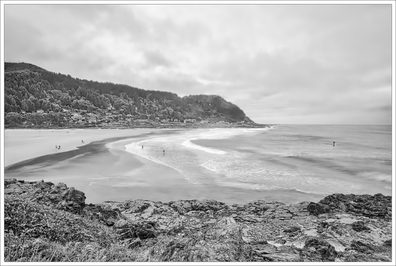 """""""Don't Miss the Surfer (Yachats) BW"""""""
