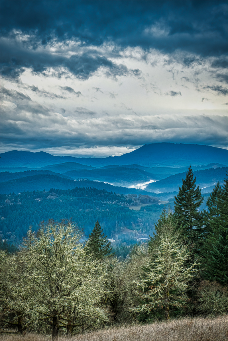 """Clouds Over the Coastal Range"""