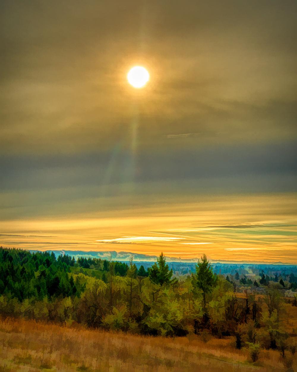 """The Sun Has Burned Thru, Painterly"""
