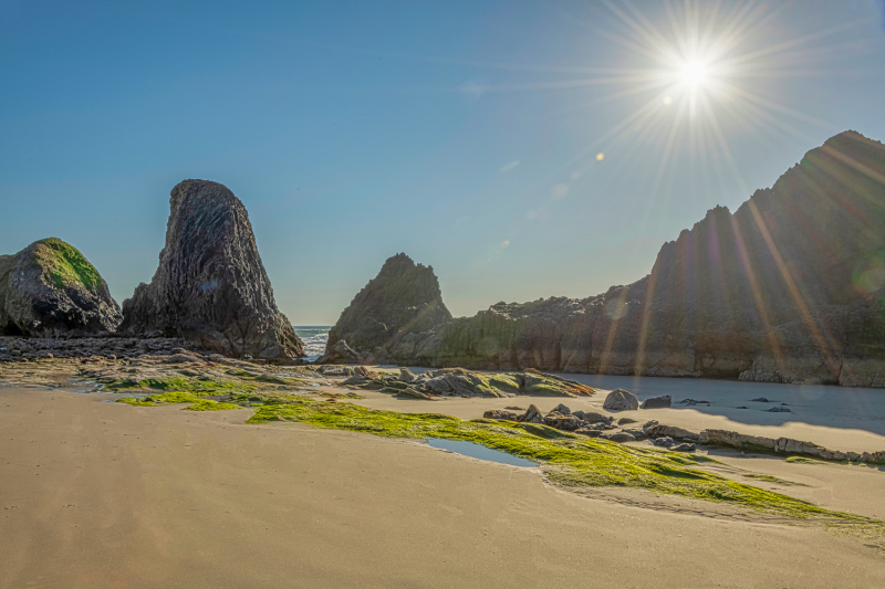 """North Seal Rock on a Sunny Afternoon"""