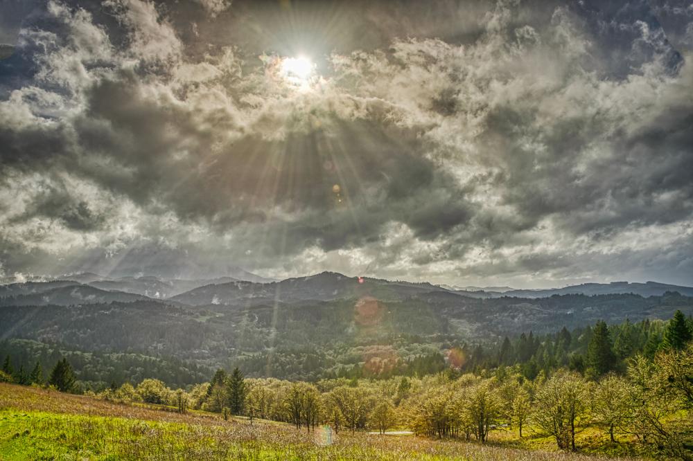 """""""Breaking Clouds Over Marys Peak"""""""