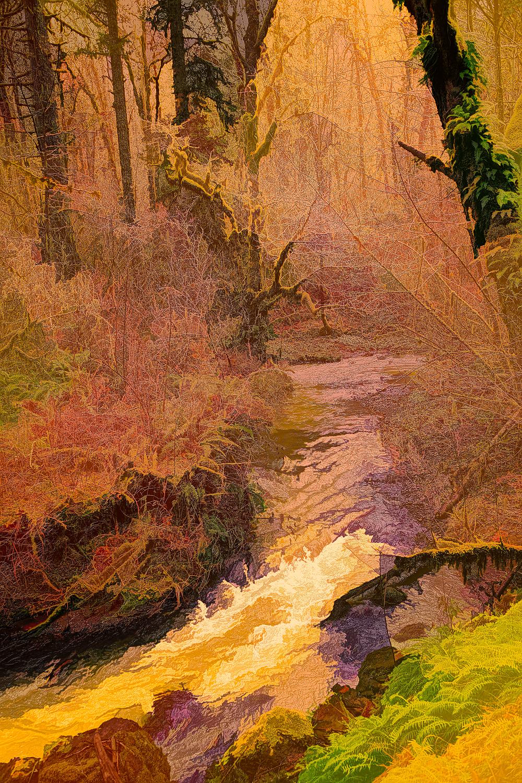 """""""Oak Creek in Winter, Abstract"""""""