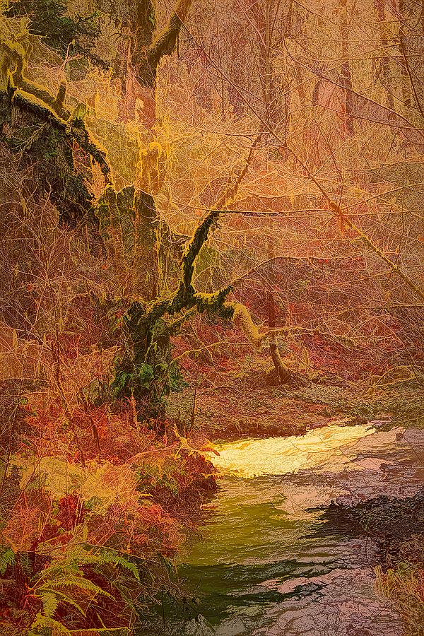 """""""Oak Creek in Winter #2, Abstract"""""""