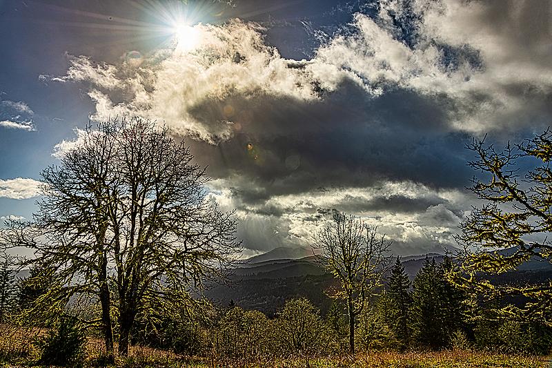 """""""Sunburst & Rain Over Marys Peak"""""""