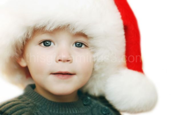 boy with santa hat