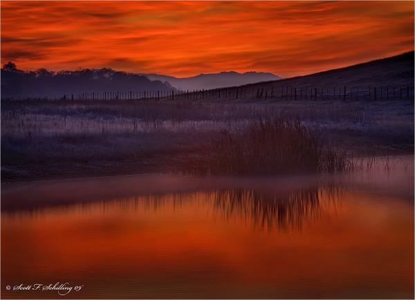 Sunrise along the Diablo Range
