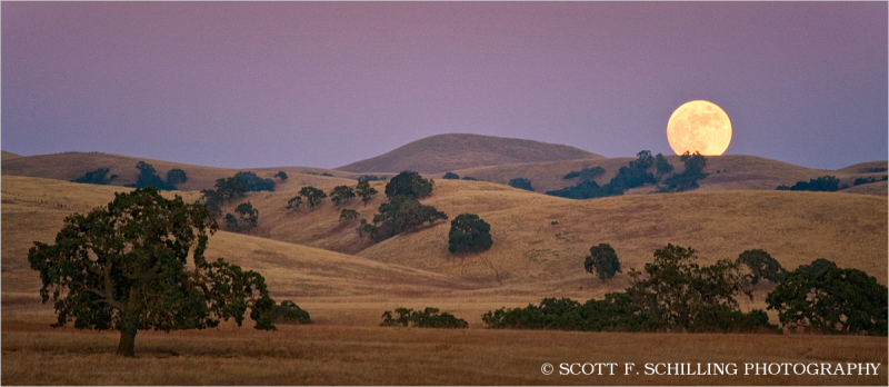 Moonrise Along The Diablo Range Landscape Amp Rural Photos