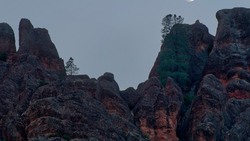 Pinnacles National Park Moonset