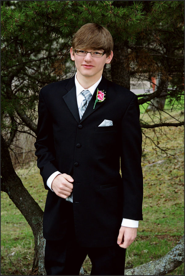 young man in tux