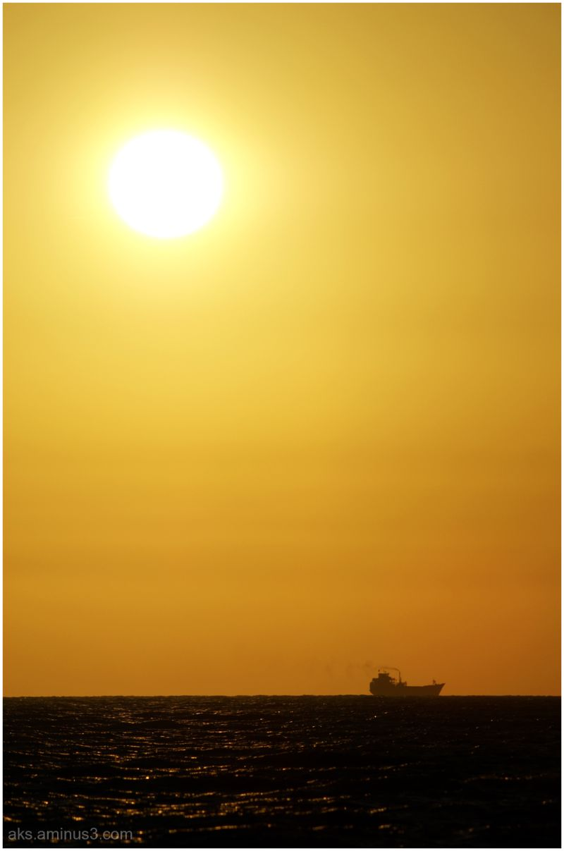 Sunset in the Persian Gulf