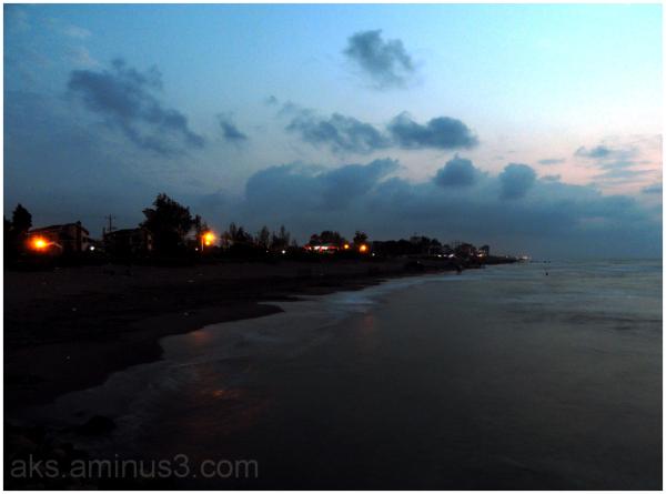 Night at the beach