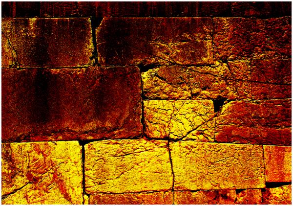 Golden stones