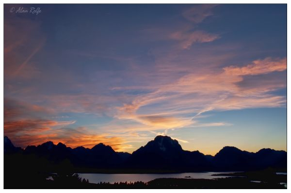 Sunset over Jenny Lake