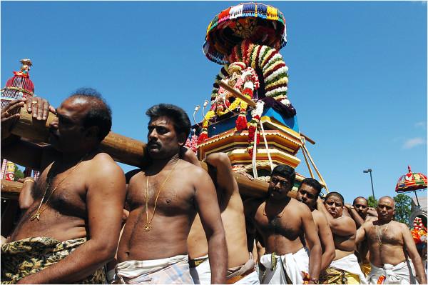hindu god ganesha chariot festival