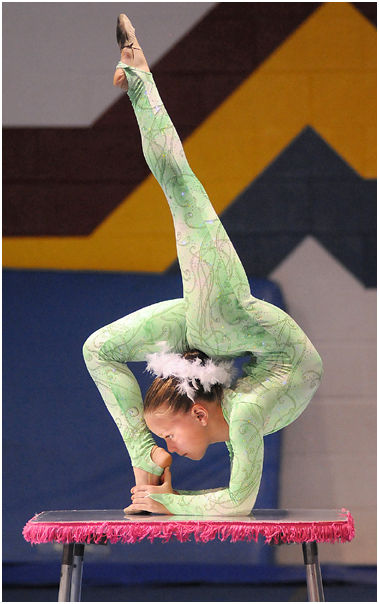 gym acrobat contortion