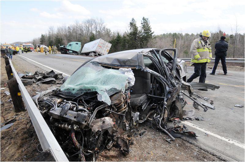 Auto Truck Crash