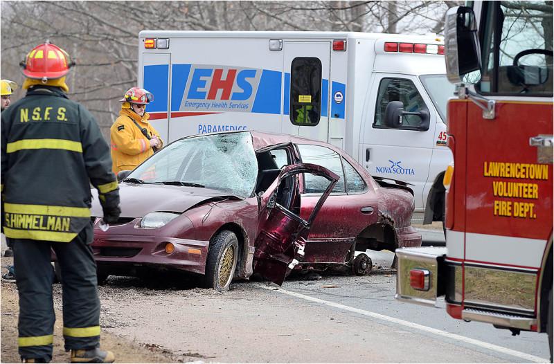 car crash pole crash