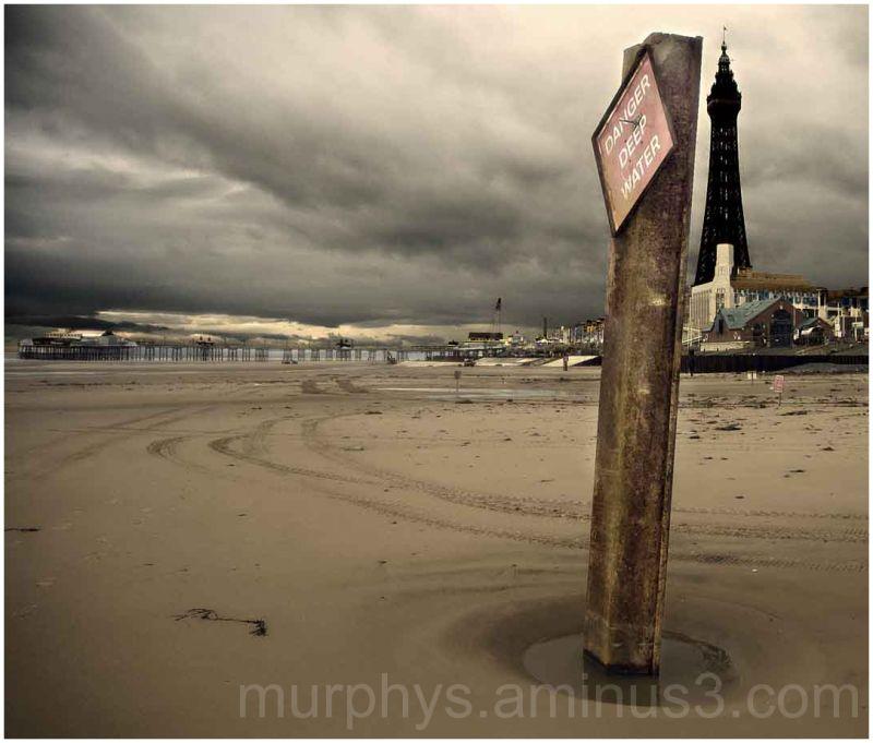 Blackpool Beach.