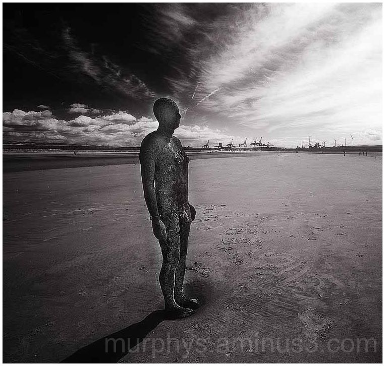 Crosby Beach . liverpool.