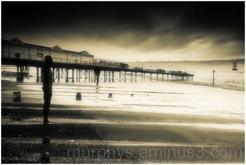 Beach, Pier, Ironman.. moody.