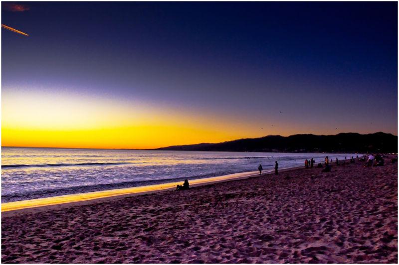 Sunset at LA beach.