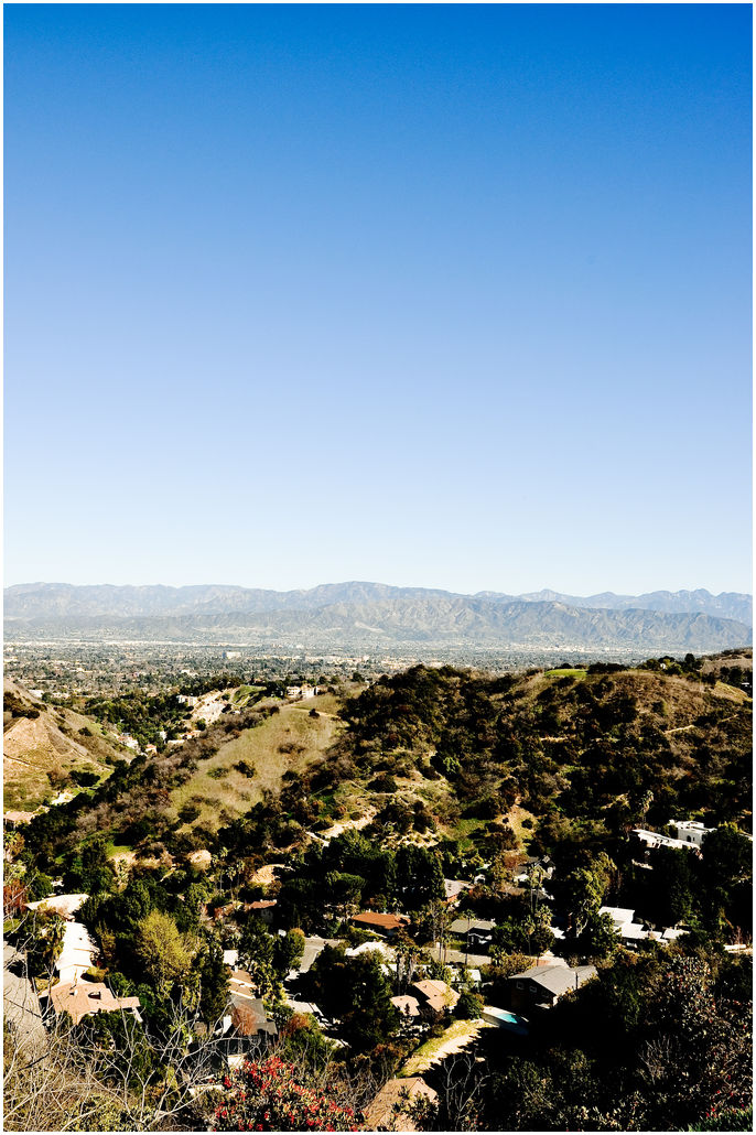 Hills in LA.