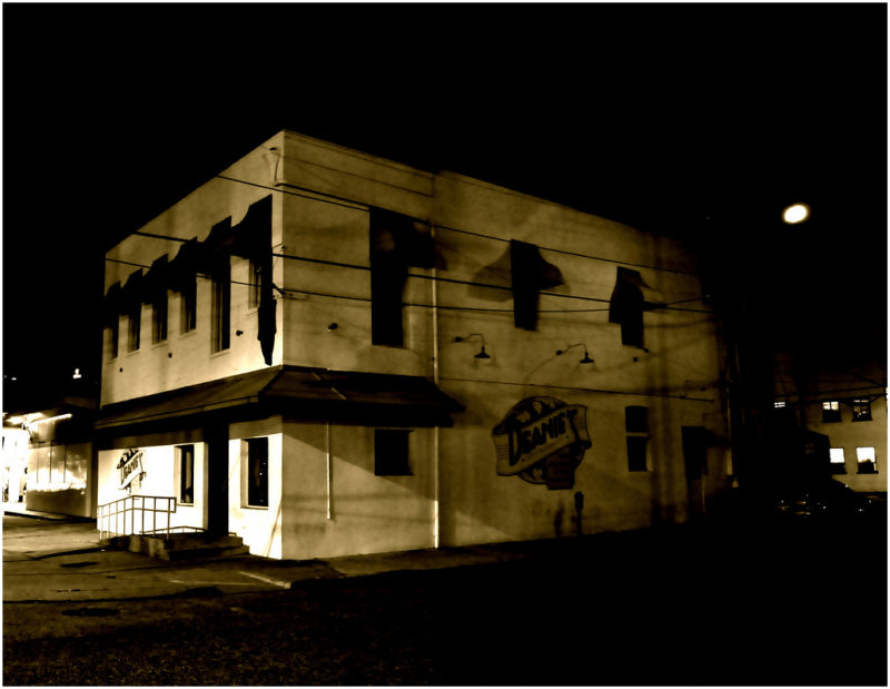 Building at night,