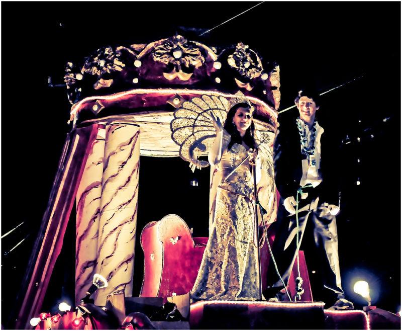 Mardi Gras princesses.