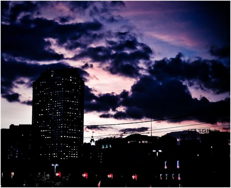 Sky in the city.