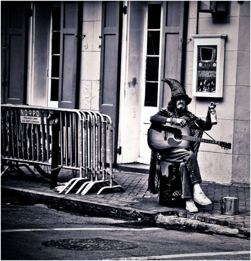 Musician on the street.