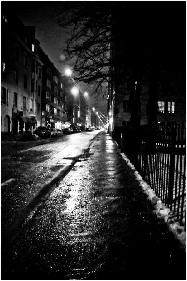 Helsinki at night.