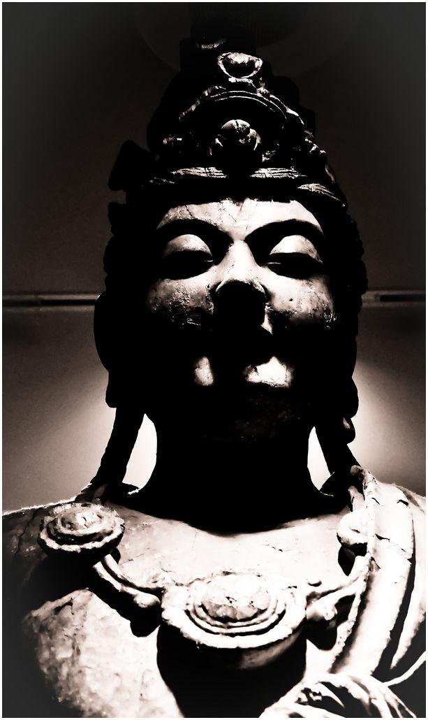 Statue in a museum.