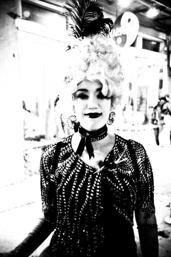 "hair black white costume Holloween ""New Orleans"""