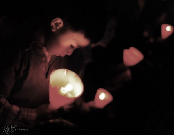 Lights in christmas carols