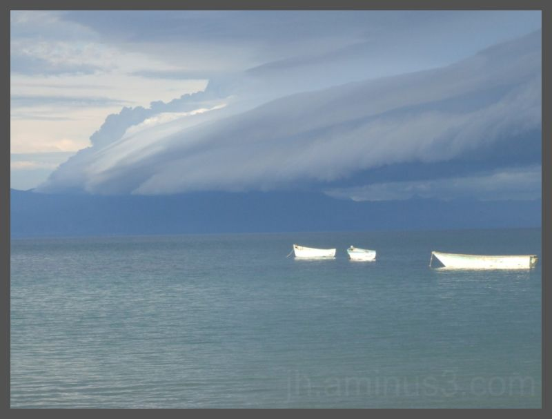 Storm drifting over lake Malawi