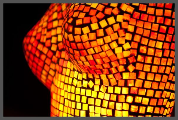Orange mosaic breasts