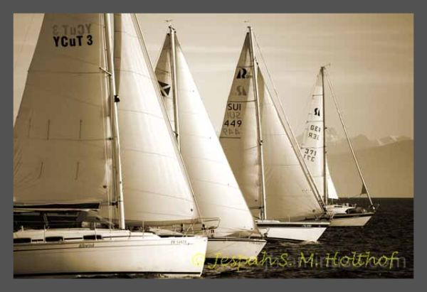 Sailing on the bodensee