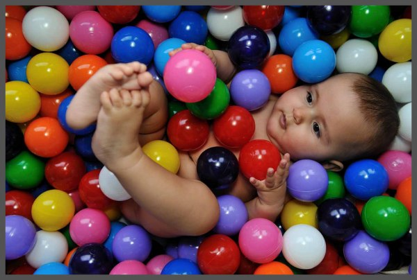 A baby with balls ..... :-)