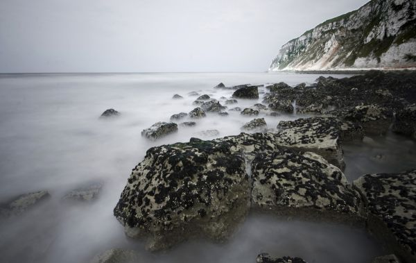 long exposure shot, seascape.