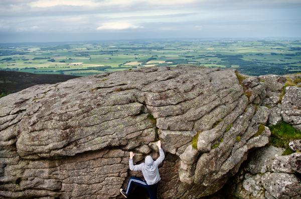 Climbing on Bennachie