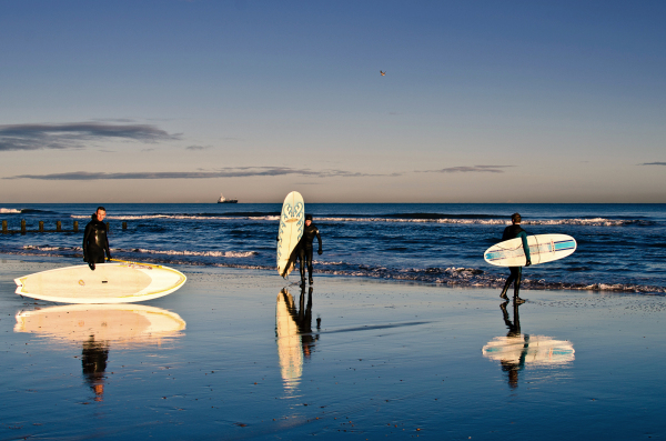 Surfers from North Sea