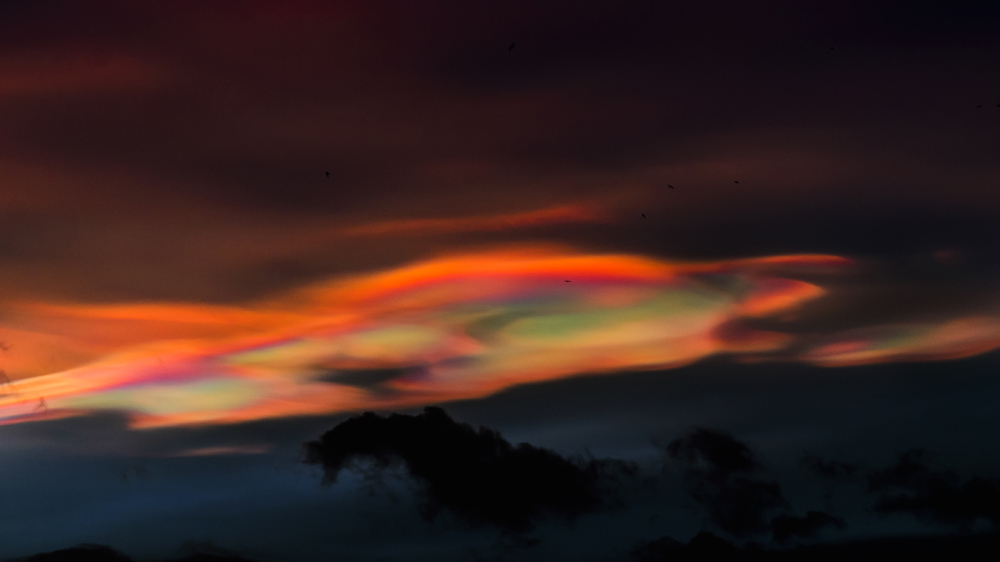 Nacreous clouds                     Sunset