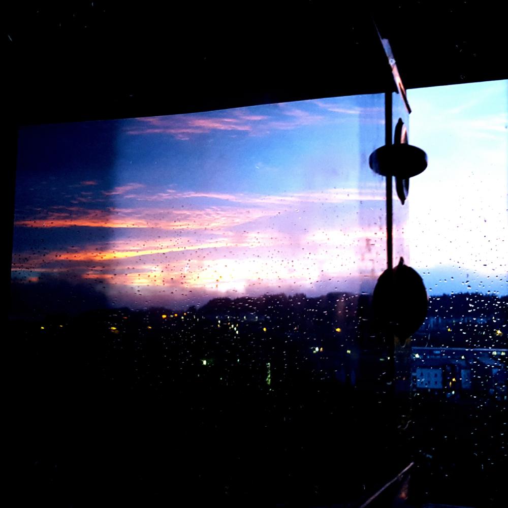 microwave sunset