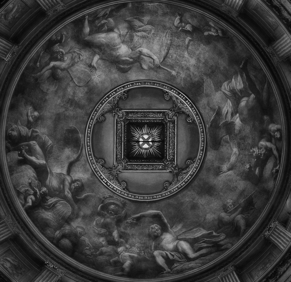Under the Dome in the entrance to the Painted Hall
