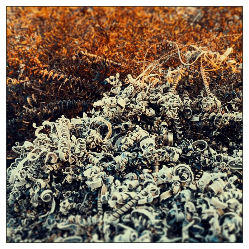 Rusty cold autumn morning
