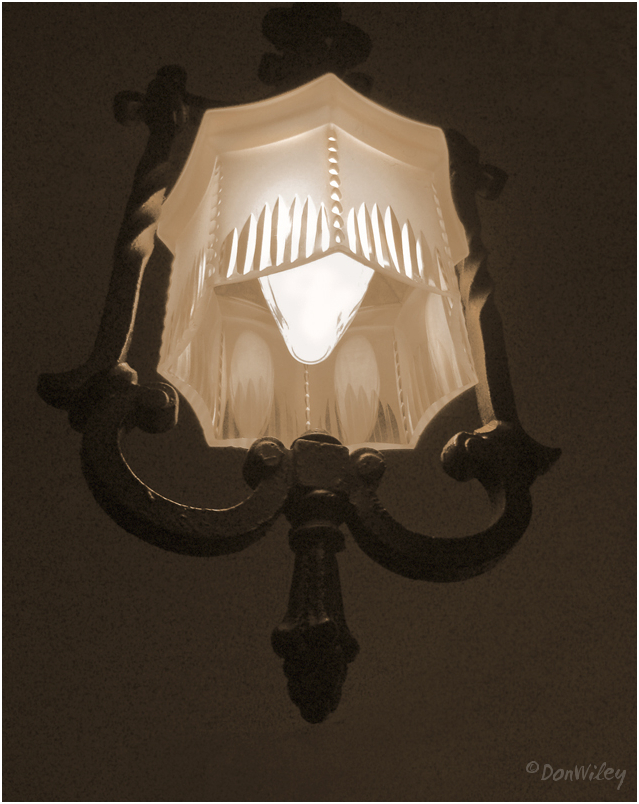 My favorite cut glass lamp