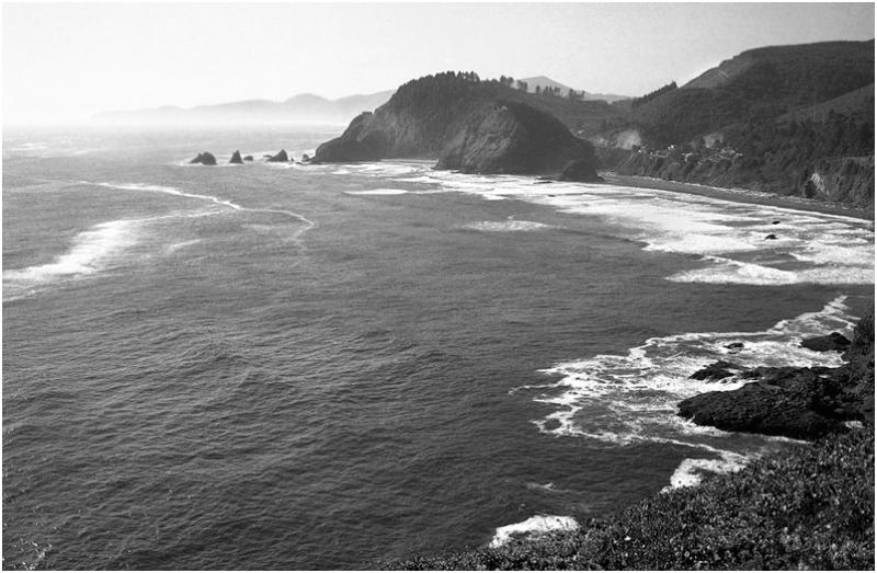 A along the Oregon coast.
